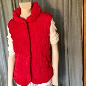 Women's red Tribal pusher vest size large